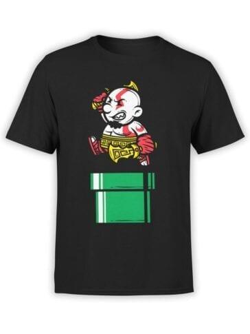 1513 God of War T Shirt Mario Kratos Front