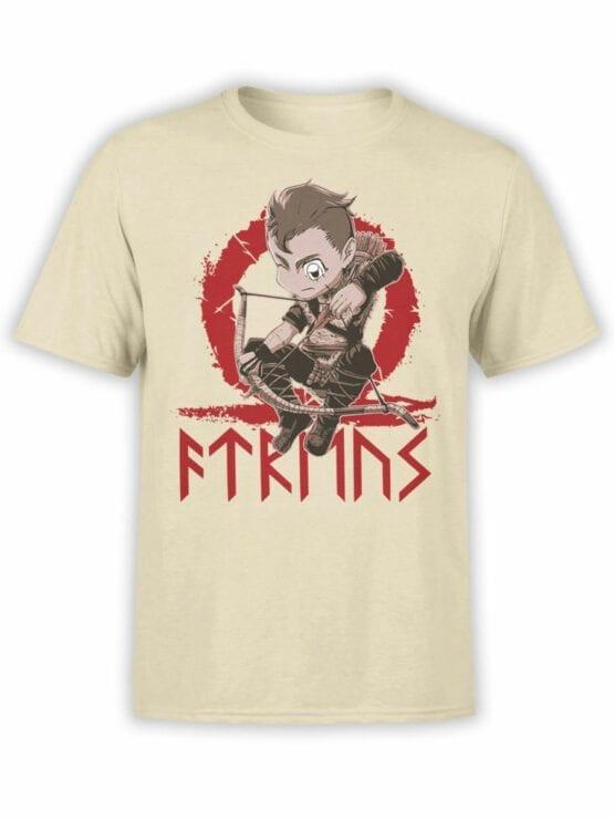 1514 God of War T Shirt Chibi Atreus Front