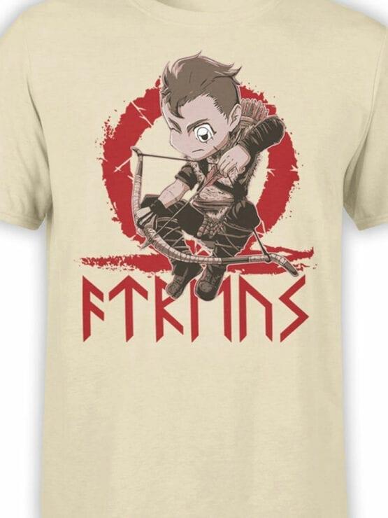 1514 God of War T Shirt Chibi Atreus Front Color