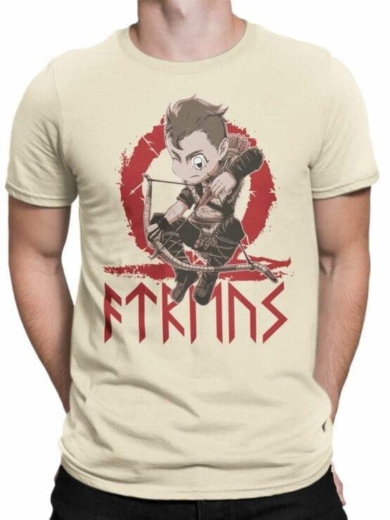 1514 God of War T Shirt Chibi Atreus Front Man