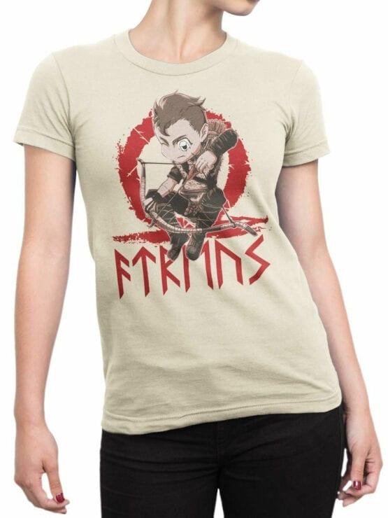 1514 God of War T Shirt Chibi Atreus Front Woman