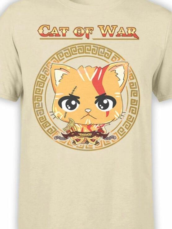 1515 God of War T Shirt Cat of War Front Color
