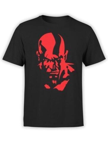 1517 God of War T Shirt Red Kratos Front