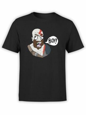 1519 God of War T Shirt Boy Front