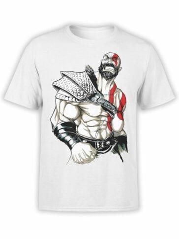 1528 God of War T Shirt Rage Front