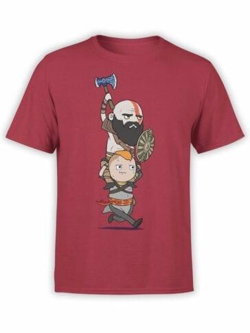 1533 God of War T Shirt Run Front