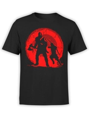 1534 God of War T Shirt Dad and Son Front