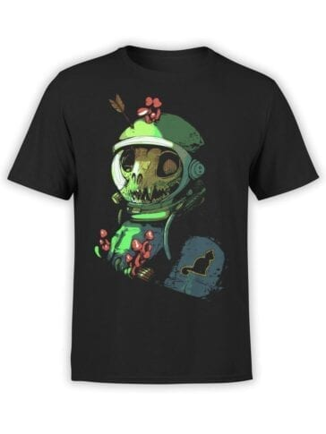 1540 NASA T Shirt Dead Cat Astronaut Front