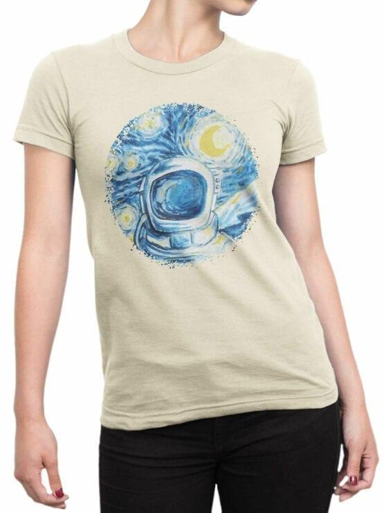 1547 NASA T Shirt Astro Gogh Front Woman