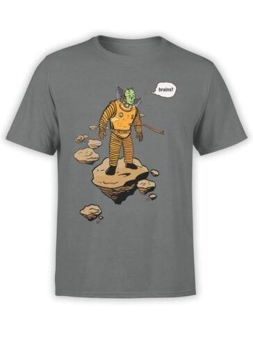 1552 NASA T Shirt Astro Zombie Front