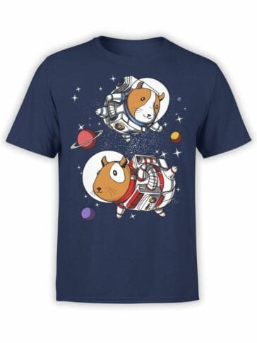 1554 NASA T Shirt Astro Guinea Pigs Front