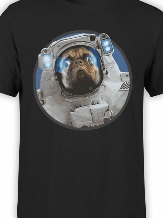 1558 NASA T Shirt Astro Pug Front Color
