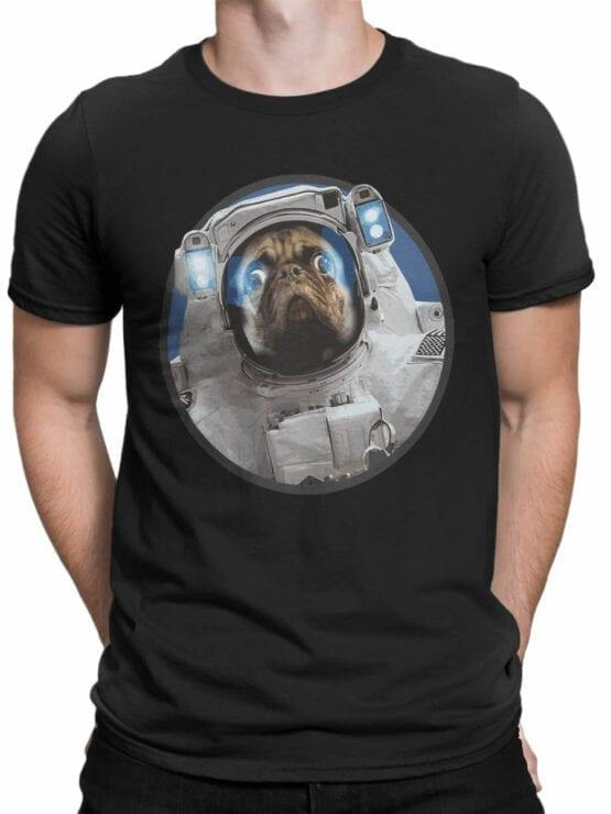 1558 NASA T Shirt Astro Pug Front Man