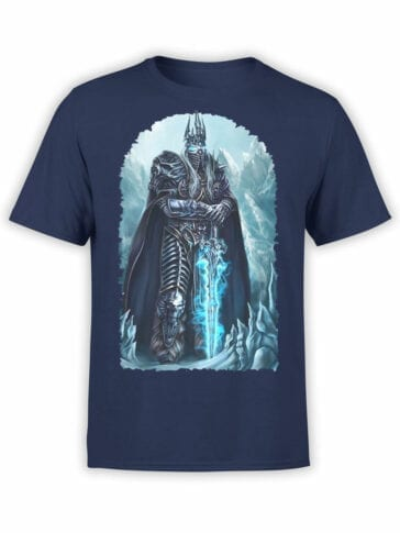 1563 World of Warcraft T Shirt Arthas Menethil Front