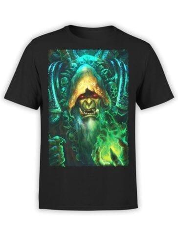 1564 World of Warcraft T Shirt Guldan Front