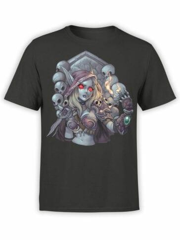 1565 World of Warcraft T Shirt Sylvanas Windrunner Front