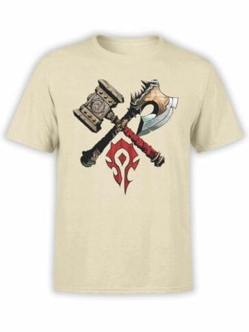 1568 World of Warcraft T Shirt Horde Front