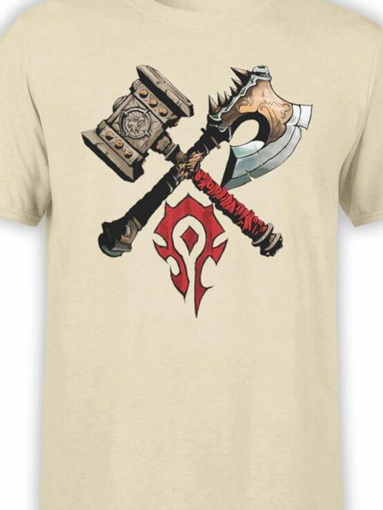 1568 World of Warcraft T Shirt Horde Front Color