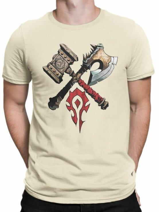 1568 World of Warcraft T Shirt Horde Front Man