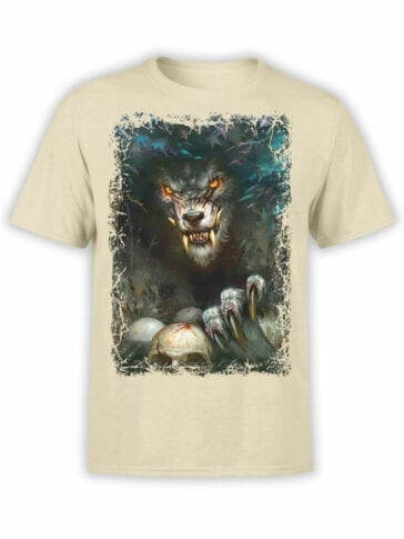 1574 World of Warcraft T Shirt Werewolf Front