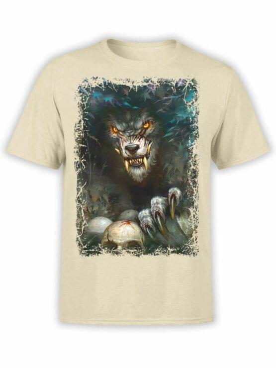 1574 World of Warcraft T Shirt Werewolf Front