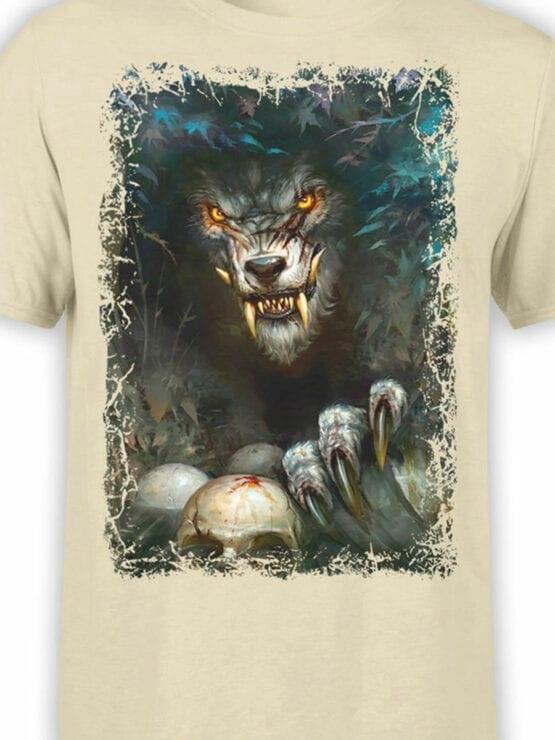 1574 World of Warcraft T Shirt Werewolf Front Color