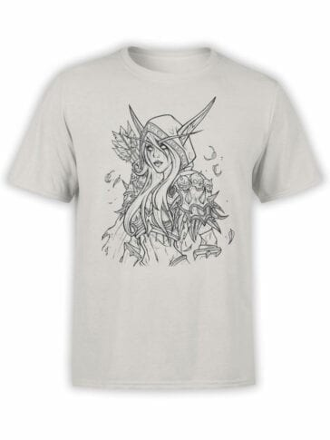 1576 World of Warcraft T Shirt Sylvanas Windrunner Front