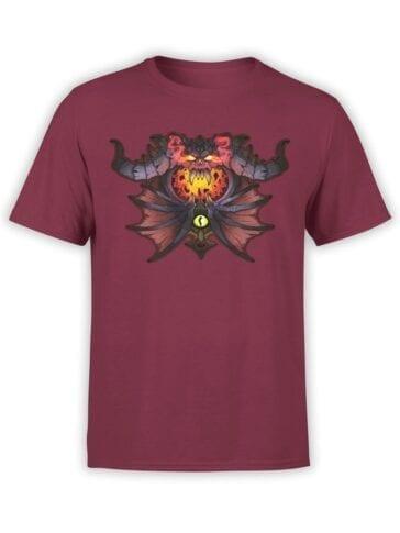 1577 World of Warcraft T Shirt Warlock Front