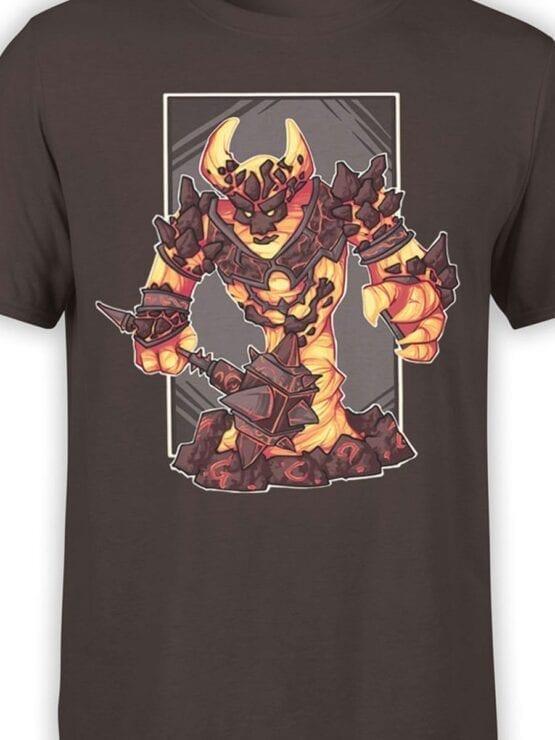 1580 World of Warcraft T Shirt Ragnaros Front Color