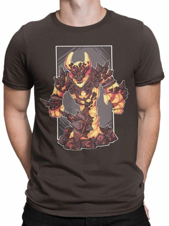 1580 World of Warcraft T Shirt Ragnaros Front Man