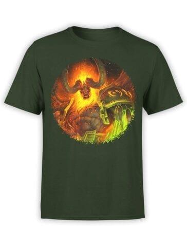 1581 World of Warcraft T Shirt Sargeras Front