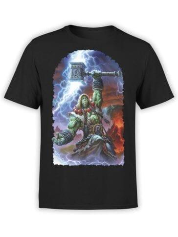1582 World of Warcraft T Shirt Shaman Front
