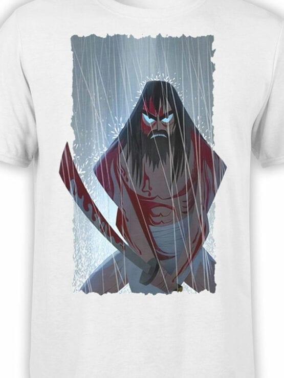 1591 Samurai Jack T Shirt Rain Front Color