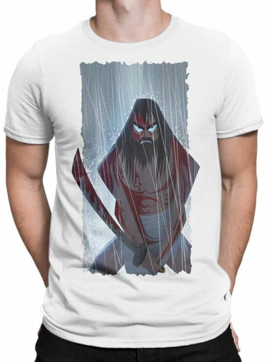 1591 Samurai Jack T Shirt Rain Front Man