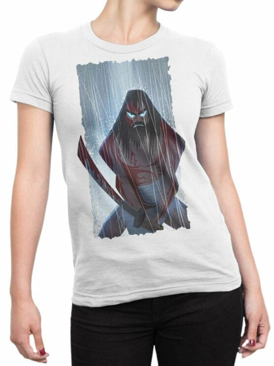 1591 Samurai Jack T Shirt Rain Front Woman