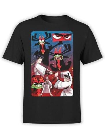1595 Samurai Jack T Shirt Aku and Jack Front