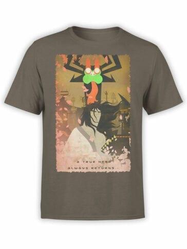 1596 Samurai Jack T Shirt Retro Front