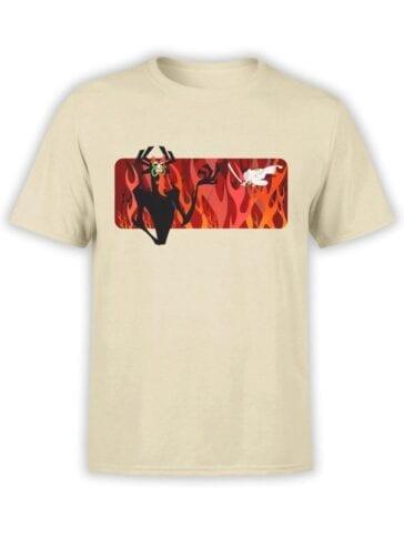 1598 Samurai Jack T Shirt Fire Front