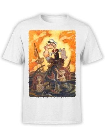 1602 Popeye T Shirt Mermaids Front