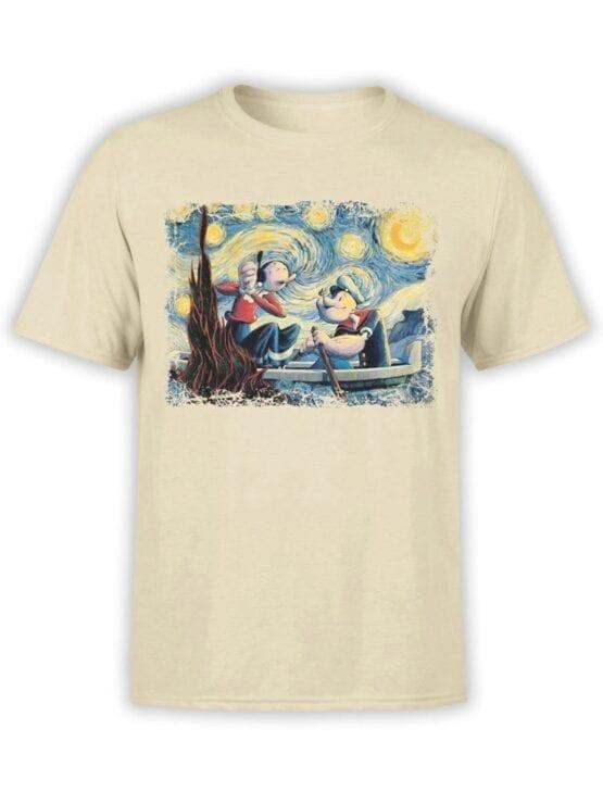 1606 Popeye T Shirt Van Gogh Style Front