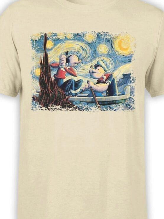 1606 Popeye T Shirt Van Gogh Style Front Color