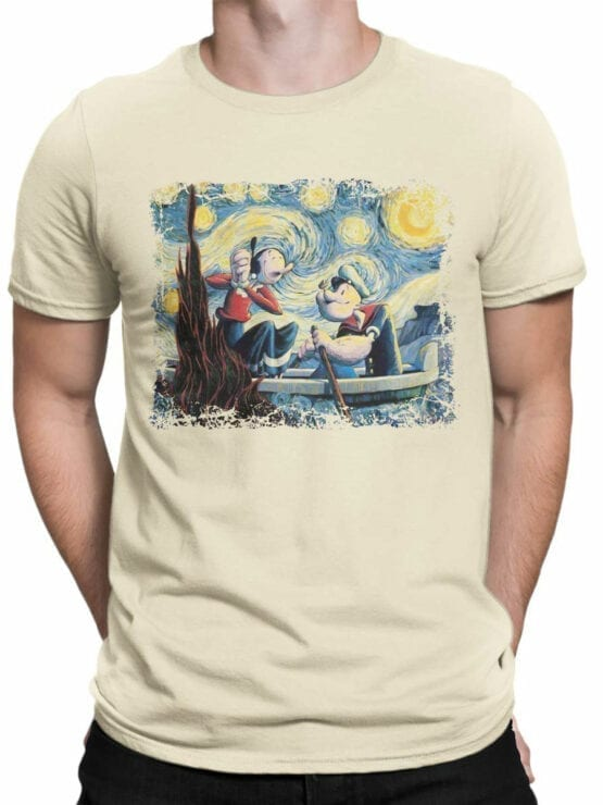 1606 Popeye T Shirt Van Gogh Style Front Man