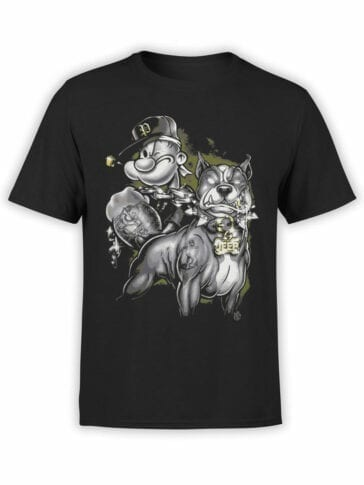 1610 Popeye T Shirt Coolest Front