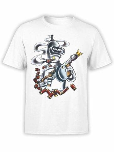 1611 Futurama T Shirt Bender Gang Front
