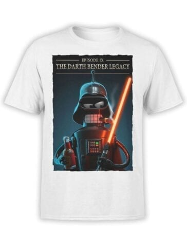 1615 Futurama T Shirt Darth Bender Front
