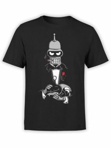 1618 Futurama T Shirt Bender Father Front