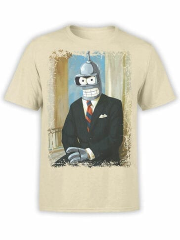 1630 Futurama T Shirt Mr Bender Front