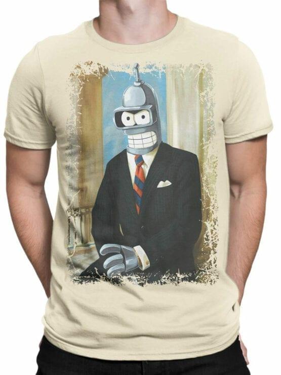 1630 Futurama T Shirt Mr Bender Front Man