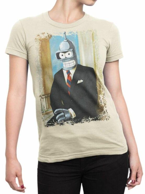 1630 Futurama T Shirt Mr Bender Front Woman