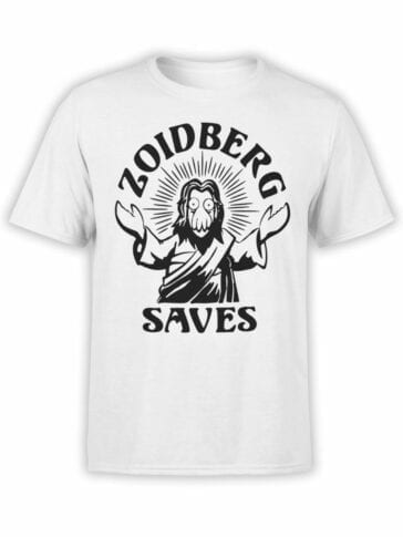 1634 Futurama T Shirt Zoidberg Saves Front